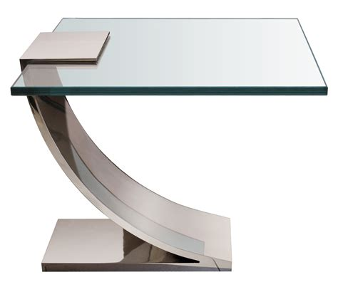 Glass End Table With L by Nickel And Glass Side Tables Mid Century Modern Side