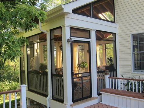 Screen Porch Windows Decor Screened Porch Sanctuary Traditional Porch Chicago By Your Favorite Room By Cathy Zaeske