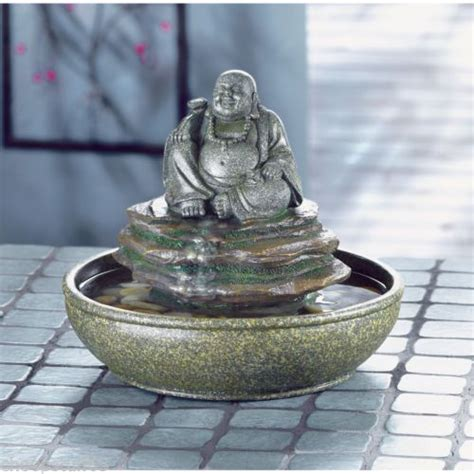 Desk Water Fountains feng shui laughing buddha indoor outdoor table