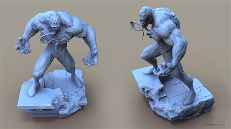 zbrush venom tutorial venom 3d sculpt by eduardo silva cgvilla