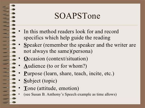 soapstone template active reading note taking