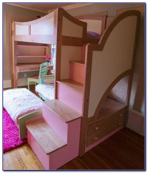 twin over full bunk beds with stairs twin over full bunk bed with stairs and desk beds home