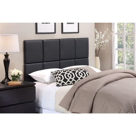 Black Headboard King Foremost Tessa Matte Black King Headboard Tht 61013 Pu Blk Kng The Home Depot