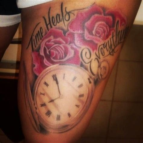 time heals everything tattoo mine tattoos pinterest