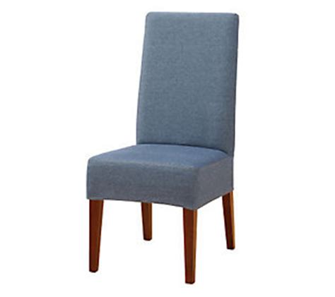 fitted dining room chair covers sure fit denim dining room chair cover qvc com
