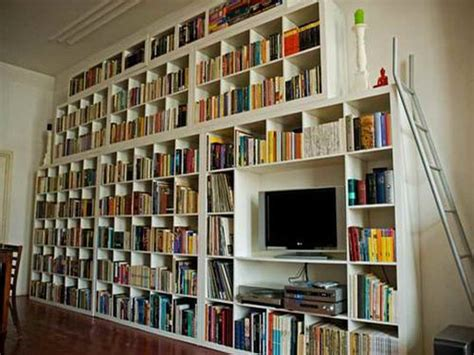 library wall bookshelves bloombety wall shelves ikea like a library wall shelves