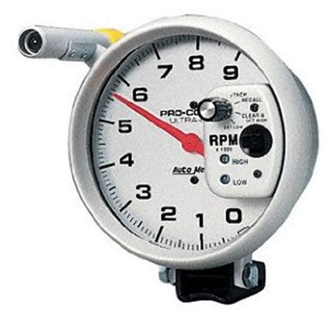 Rpm Tachometer Sct 1205 auto meter ultra lite 5 tach with shift lite and memory speedshoppers