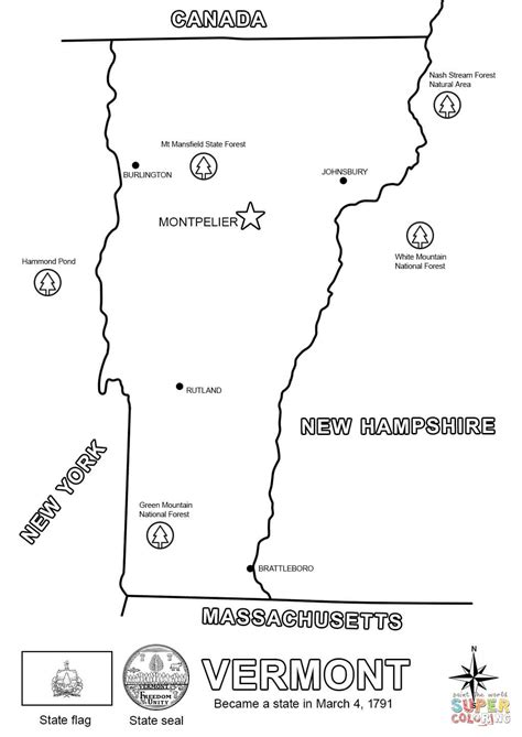 vermont map coloring page vermont state map coloring page free printable coloring
