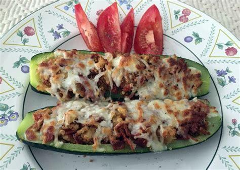 pepperoni stuffed zucchini - Pepperoni Stuffed Zucchini Boats