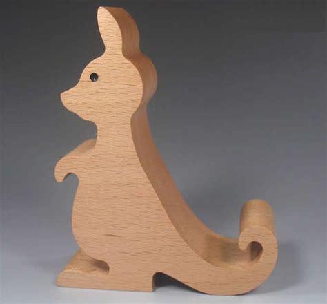 wood kangaroo pattern wooden kangaroo shaped mobile phone ipad holder stand