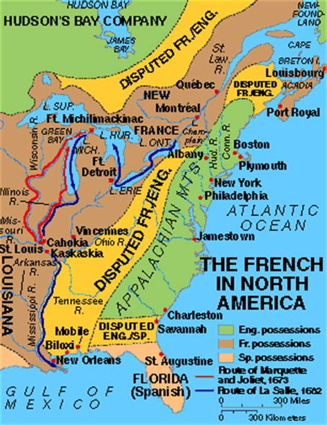 pattern of french settlement in north america harold d tallant site map links