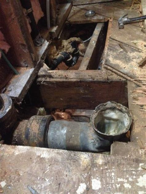 Cast Iron Plumbing Stack by What Type Of Metal Is This Toilet Drainpipe Connecting To