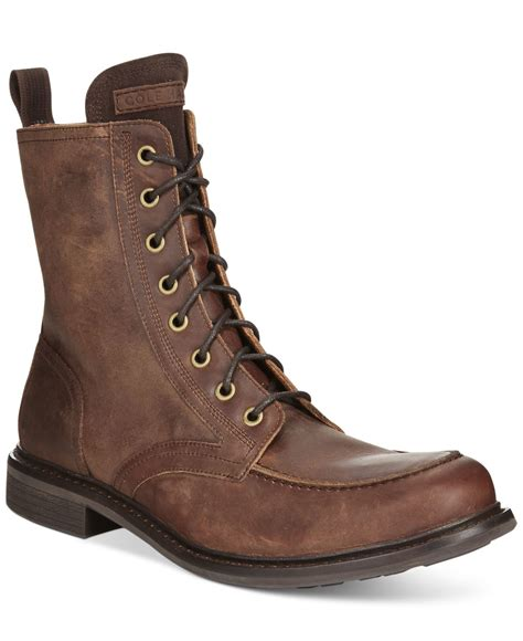 cole haan s boots cole haan bryce moc toe boot in brown for lyst