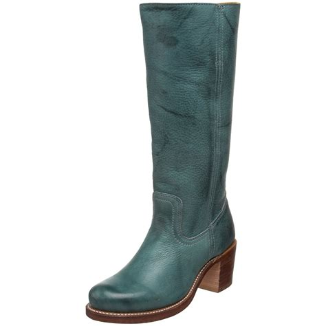 womans frye boots frye frye womens sabrina 14l boot in blue teal lyst