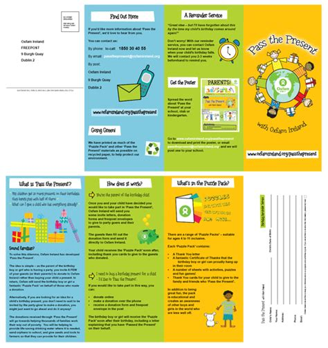 booklet layout ne demek pass the present leaflet