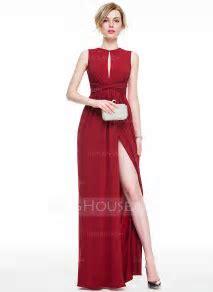 Sheath/Column Scoop Neck Floor Length Jersey Evening Dress