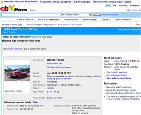 Ebay Reserve Not Met | original tv car auction round up knight rider s kitt