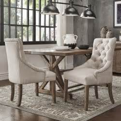Dining Room Accent Furniture by Benchwright Button Tufts Wingback Hostess Chairs Set Of 2
