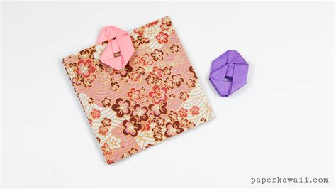 Paperclip Origami - how to make an origami paperclip paper kawaii