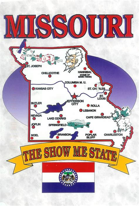 missouri attractions map detailed tourist illustrared map of missouri state