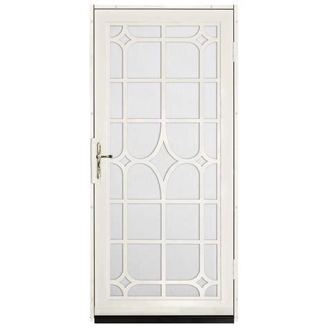 Steel Security Doors Design Ideas Unique Home Designs 36 In X 80 In Almond Surface Mount Steel Security Door With