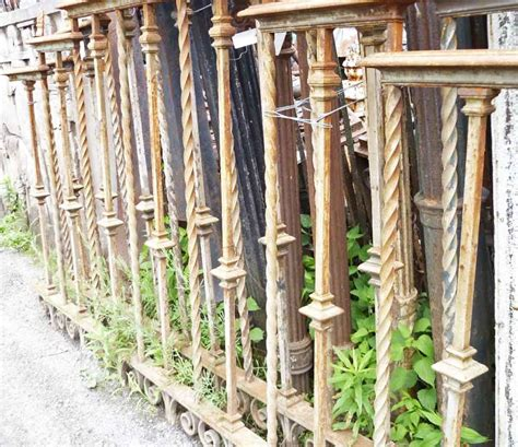 wrought iron fence sections pair of heavy gauge cast wrought iron fence sections