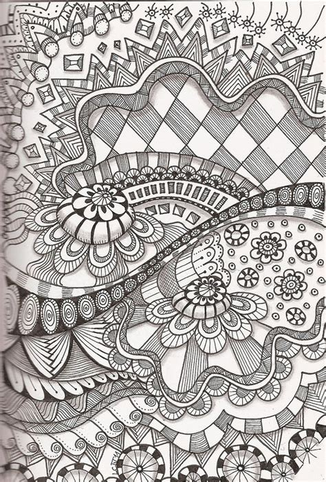 doodle pattern love tangle 35 i love zentangle its fun and very creative