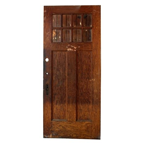 Salvaged Exterior Doors Antique Salvaged Exterior 36 Door With Beveled Glass