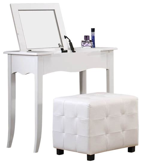 white vanity desk with mirror homelegance sparkle vanity desk with lift top mirror in