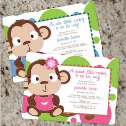monkey baby shower invitations baby shower decoration ideas