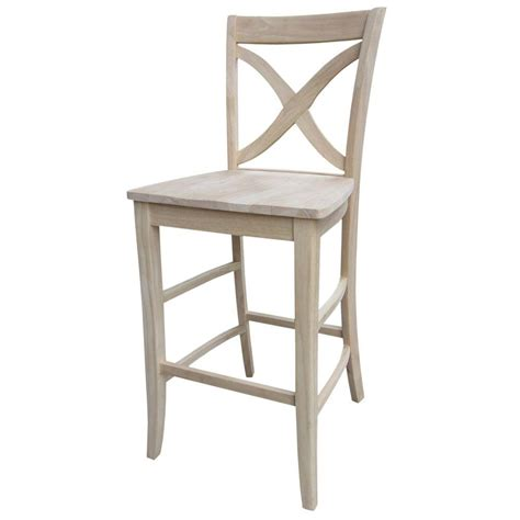 Unfinished Wood Bar Stool International Concepts 18 In Unfinished Wood Bar Stool 1s 681 The Home Depot