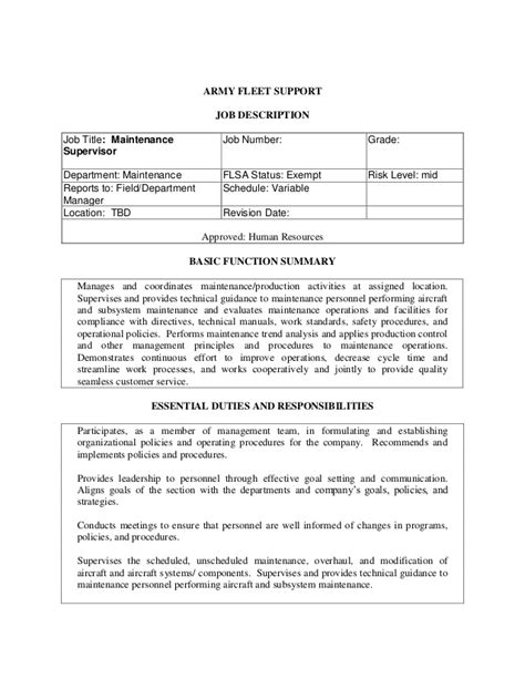 Fleet Manager Description by National Guard Opportunity Army Fleet Ch 47 Maintenance S