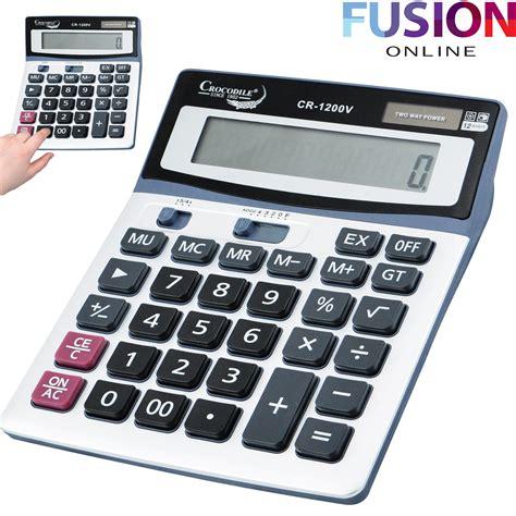 calculator uk large desk calculator jumbo large buttons solar desktop