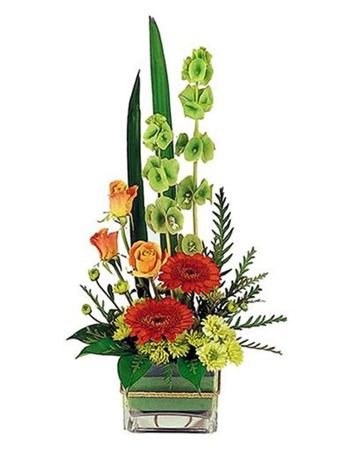 Modern Flower Arrangements In Vase by Floral Arrangements Glass Vase And Flower On