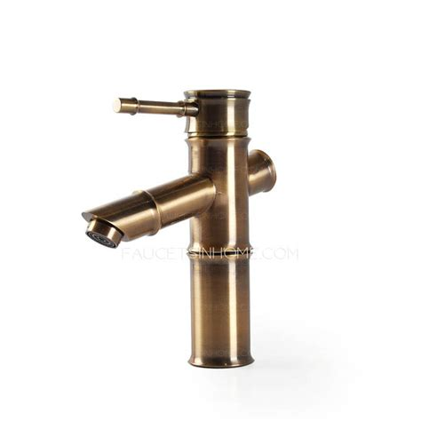 Antique Bronze Faucets by Antique Bronze Bamboo Shaped Bathroom Sink Faucet