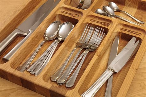 Cutlery Inserts For Drawers by Solid Wood Cutlery Tray Insert For Drawers Wood Kitchen