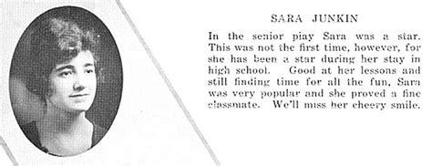 biography yearbook sarah kathryn junkin 1900 1958