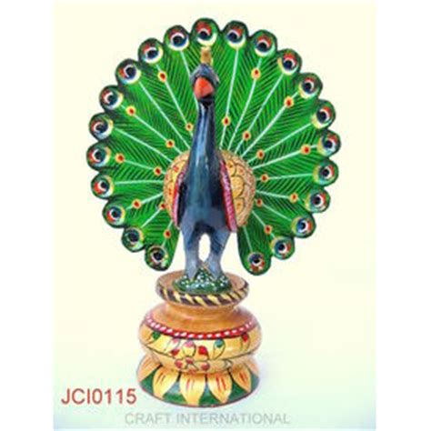 home decor gifts online india home decor handicrafts peacock painted 6 inches