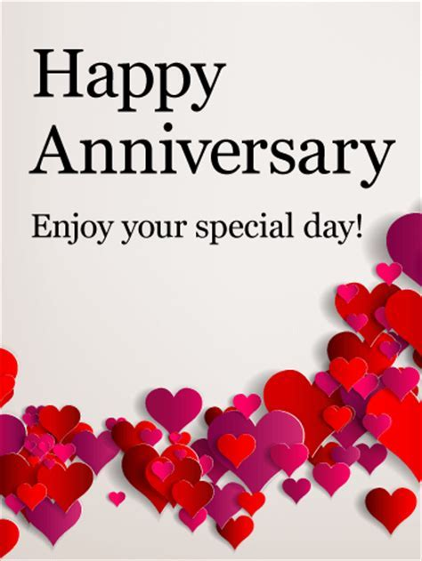 Enjoy Your Special Day! Happy Anniversary Card   Birthday