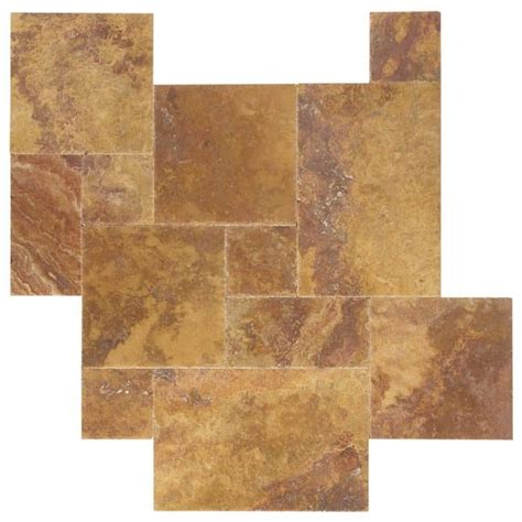 french pattern travertine tiles peach blend brushed chiseled french pattern travertine tiles