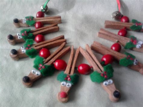 craft activities images on the occasion of christmas wooden clothespin reindeer necklace occasions and holidays