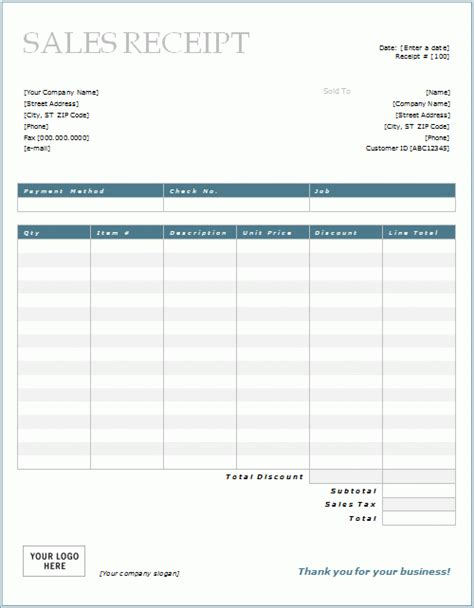 sales receipt template microsoft word 7 free sales receipt templates word excel formats