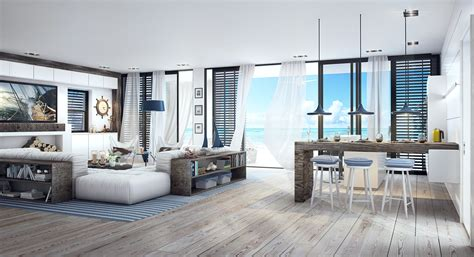 Home Drawing Room Interiors beach house 3dsmax vray interior scene