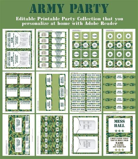 free printable army birthday decorations 32 best images about boot c on pinterest army