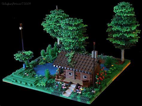 lego log cabin lego log cabin version 5 gallaghersart
