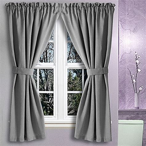 Gray Bathroom Window Curtains Buy Avalon 36 Inch X 54 Inch Bath Window Curtain In Grey From Bed Bath Beyond