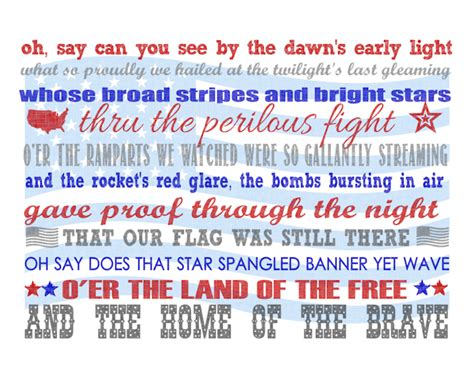 printable lyrics star spangled banner 15 of the best patriotic printables measured by the heart