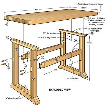 woodwork simple workbench plans   plans