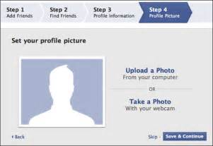 Create a facebook profile next step is to set up a profile picture