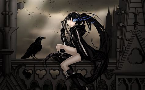 anime girl rock wallpaper anime black rock shooter full hd wallpaper and